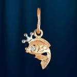 Золотая рыбка - подвеска из русского золота 585°