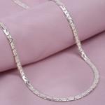 Серебряная цепочка Змейка овальная
