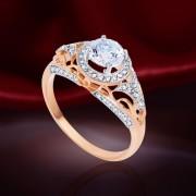Топаз Swarovski® и Бриллианты. Золотое кольцо