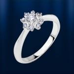 Кольцо с Бриллиантами VVS Белое золото