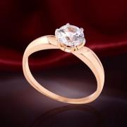 Кольцо золотое с фианитами Swarovski®