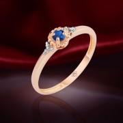 Сапфир и Бриллианты. Золотое кольцо