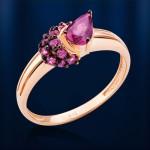 Родолиты. Кольцо золотое