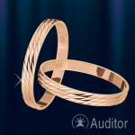 """Кольцо обручальное золотое """"Полдень"""""""