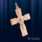 Крест православный нательный золотой