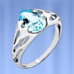 Серебряное кольцо Кипарис с Топазом
