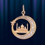 """Подвеска из золота """"Мечеть"""""""