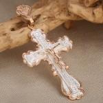 Нательный крестик с распятием. Серебро