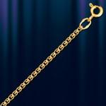 Серебряная позолоченая цепочка Лав