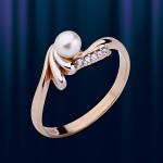 Кольцо из русского золота 585º с жемчугом