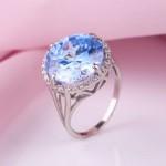 Серебряное кольцо с голубым кварцем