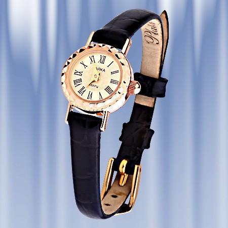Часы золотые яшма