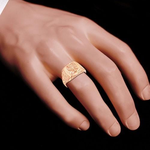 перстень мужской золотой с георгием победоносцем кортеж