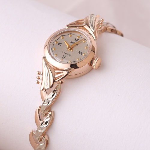 334e74abfc09 Золотые часы женские Чайка с золотым браслетом, Damenuhr Gold 585 ...
