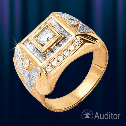 Мужской Перстень золотой