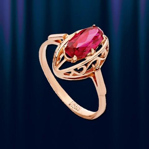 Кольцо из золота с рубином Маркиза Литтл, Ring aus Rotgold