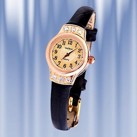 Золотые часы женские Чайка, Armbanduhr Gold 585 Chaika