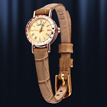 Золотые часы женские Чайка, Damenuhr Gold 585 Chaika